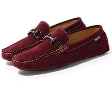 EU 38-43 Кожа пряжки SLIP-ON Loafer вождения мужская обувь БИЗНЕС Мокасины мокасины