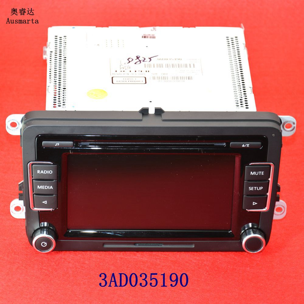 US $128 9 |1 Pcs OEM RCD510 CD MP3 Car Radio Code For VW Jetta Golf GTI MK5  MK6 Passat B6 B7 CC Tiguan Scirocco Polo Eos 3AD035190 3AD03519-in Car CD