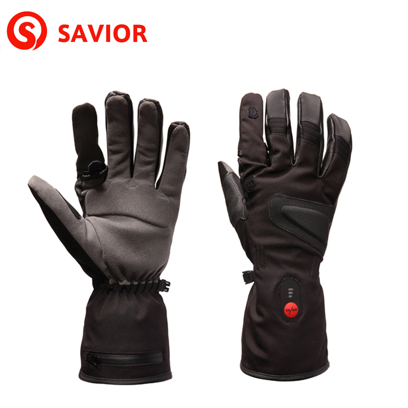 SAVIOR S-09 Heated Gloves Outdoor Sport Fishing Hiking Skiing Riding Hunting Temperature Adjusted Safe Voltage Men and Women