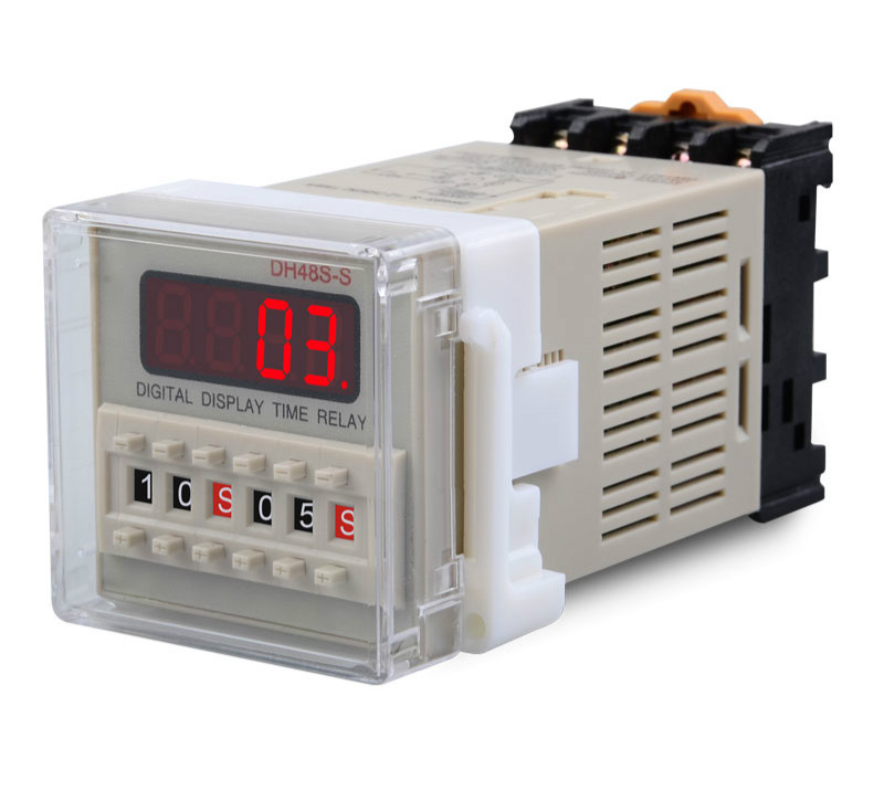 DH48S-S Digital Display Time Relay 220v24v12v380v Cyclic Control Time Relay to the BaseDH48S-S Digital Display Time Relay 220v24v12v380v Cyclic Control Time Relay to the Base