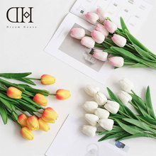 Dream House DH Fake Artificial PU Tulip Mothers Day Gift Weeding Home Decoration Bride Flower Bouquet FS112512