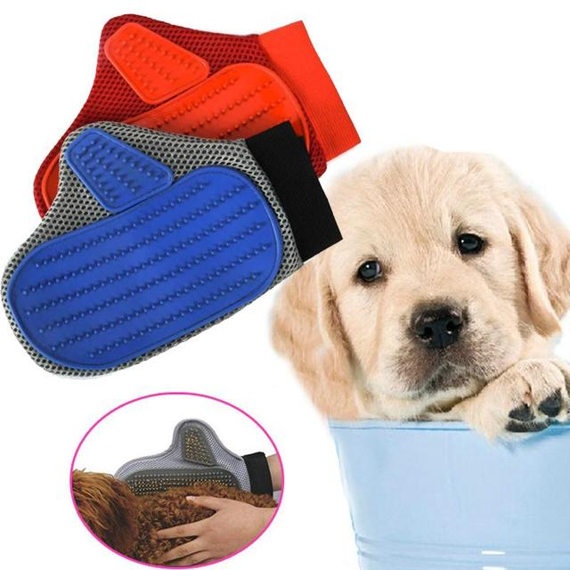 2 Colors Pet Dog Cat Grooming Hair Removal Shower Glove Cheaning Comfortable Gatos Mascotas Cachorro Chien Perros