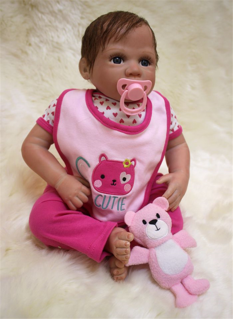 50cm Silicone reborn baby doll toy lifelike 20inch soft body newborn princess babies doll bebe reborn girls bonecas birthday gif 40cm silicone reborn baby doll toy 16inch newborn princess girls babies dolls birthday xmas gift girls bonecas play house toy