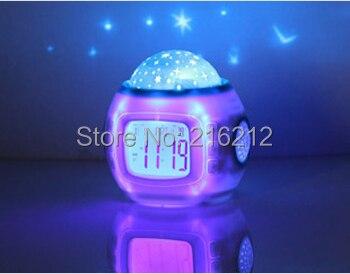 10 pcs Pretty Multi Function Colorful Light Calendar Thermometer Music Calendar Alarm Clock
