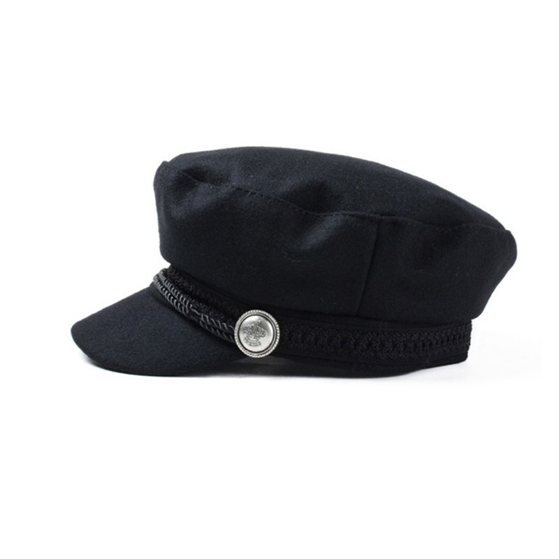 b0659de7391 2018 Trend Winter Hats For Women French Style Wool Baker s Boy Hat Female  Cool Baseball Cap Black Visor Hat Gorras Casquette-in Baseball Caps from  Apparel ...