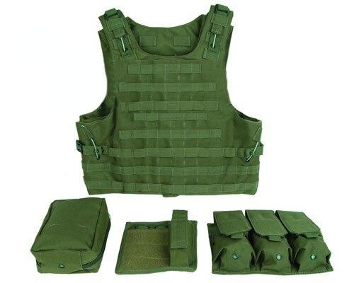 Gilet tactique militaire assaut Airsoft Multicam armée Molle Mag munitions poitrine plate-forme Paintball corps armure harnais avec poches
