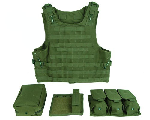 military tactical vest assault airsoft multicam army molle mag ammo