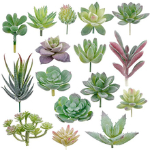 16 pcs Artificiale di Piante Grasse Succulente Affollamento Piante Unpotted Mini Falso Pianta di Loto Paesaggio Decorativa Giardino Organizzare Decor