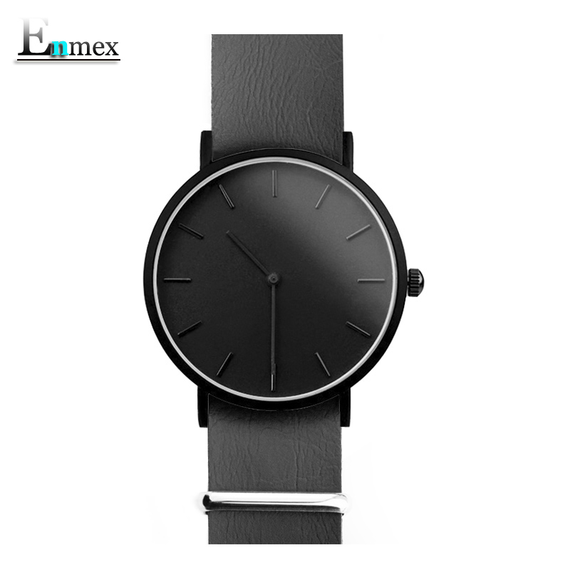 men gift Enmex brief design removable strap two hands Ultrathin watch simple and temperament Nordic  fashion quartz watches 2017 gift enmex creative simple design brief face with a red pointer steel band water prof young and fashion quartz watch