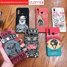 For HUAWEI nova4 nova4e P30lite Locomotive retro mobile phone case personalized fashion protective cover back cartoon anime
