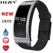 Frezen Новый CK11S Smart Band Приборы для измерения артериального давления сердечного ритма Мониторы наручные часы браслет Фитнес браслет трекер Шагомер Браслет