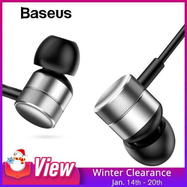 Baseus H04 basse son écouteurs intra-auriculaires Sport écouteurs avec micro pour xiaomi iPhone Samsung casque fone de ouvido auriculares MP3