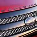 Para Ford Explorer Chrome Capa Letras 3D Etiqueta Do Emblema Do Emblema Adesivos Acessórios 2011 2012 2013 2014 2015 Prata Preto
