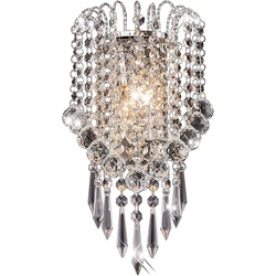OYGROUP Wall Light with Crystal Ball Drops Decorative Besides Wall Lamp for Home Sitting Room Bedroom Corridor Hotel No Bulb