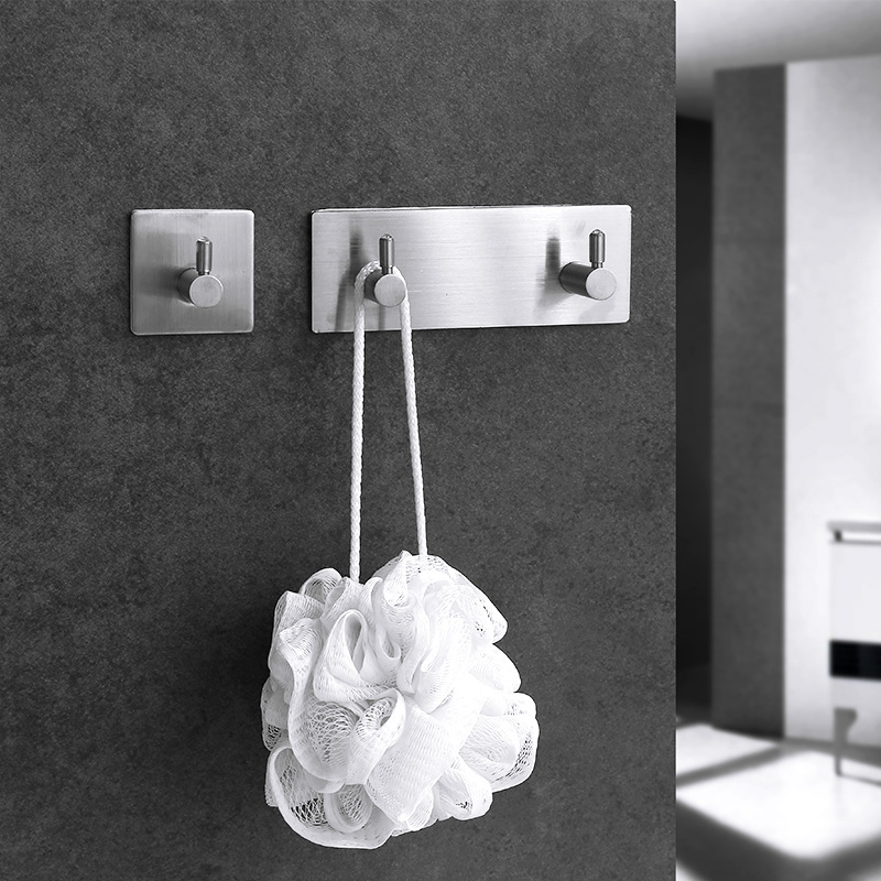 Adhesive Wall Door Back Hooks Stainless Steel Clothes