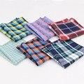 Bufandas pañuelo Pañuelos de Bolsillo de Los Hombres de La Vendimia Pañuelos Cuadrados de Mocos de Trapo de Algodón de Rayas Sólido 22*22 cm