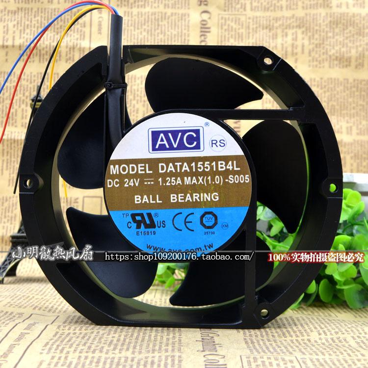 New original DATA1551B4L 17250 24V 1.25A Three-wire tachometer server cabinet fan avc data1551b4l 17250 24v line server electronic enclosures fan