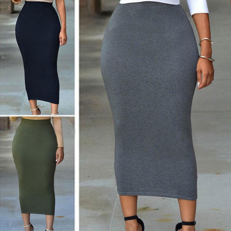 Long maxi bodycon skirt