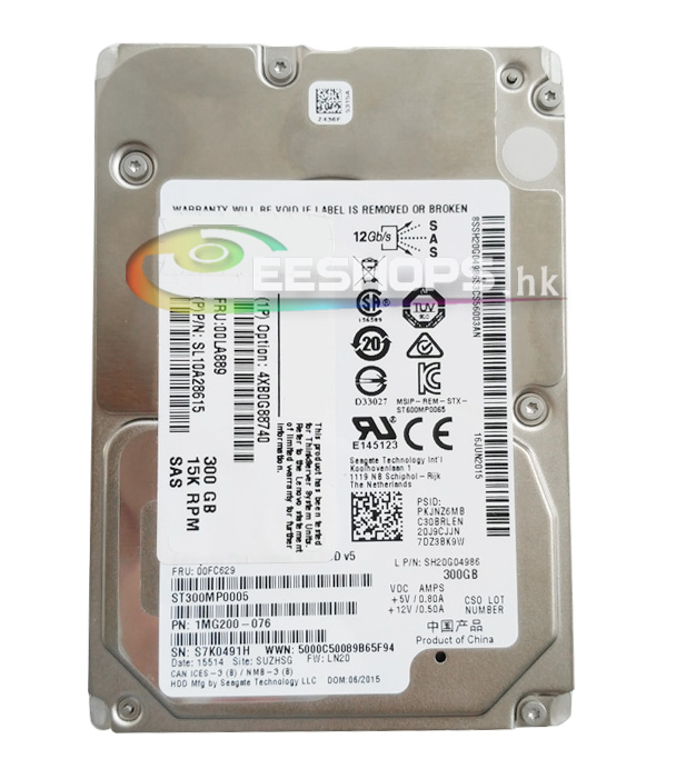 New for Lenovo ThinkServer Server 2 5 SAS 300GB HDD ST300MP0005 1MG200 076 15K RPM SAS