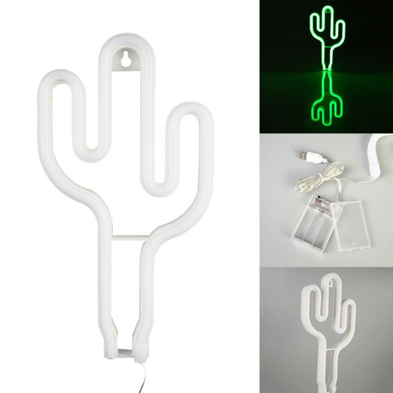 Wall Decor for Wedding Party Children Baby Room Hose Bar Recreational Cactus Neon Signs Lamp Led Neon Art Decorative Lights