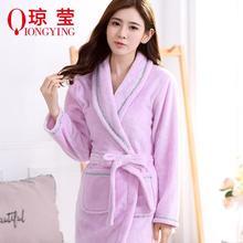 Новые зимние пижамы фланелевые платье халат милые пикантные фиолетовые Кружево ленты моделей
