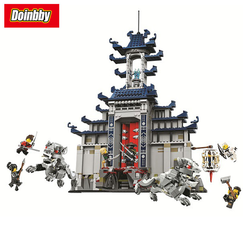 Bela 10722 Ninja Temple of The Ultimate Ultimate Weapon Model Building Block Bricks Toys Compatible with Legoings Ninjagoe 70617