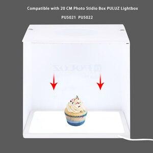 Image 2 - Mini ışık kutusu fotoğraf stüdyosu 22.5 LED fotoğraf gölgesiz alt ışık gölge ücretsiz işık lambası paneli 20 cm fotoğraf stüdyo