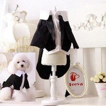XS-XXL одежда для джентльменов, собак, кошек, щенков, Свадебный костюм, смокинг, одежда, костюм весна, лето, домашний питомец, одежда