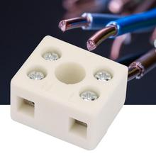 цена на 5 Pcs 2 Postion 5 Hole 2W5H Ceramic Wiring Terminal Block high frequency porcelain Dual Row Wire Connector