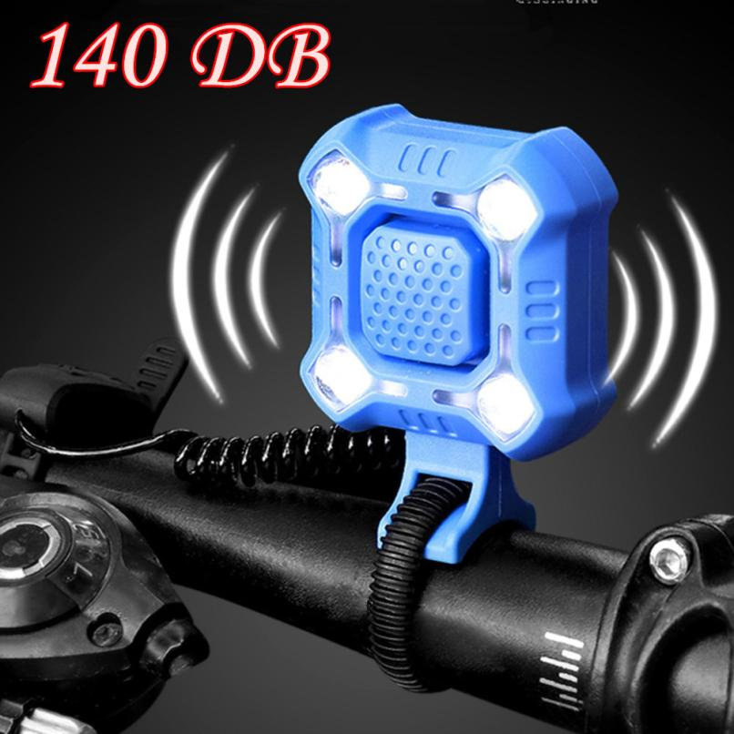 NEW Bike Lights With 140dB Safety Horn IPX6 Waterproof Rechargeable LED Bicycle Light  Horn JLY0805
