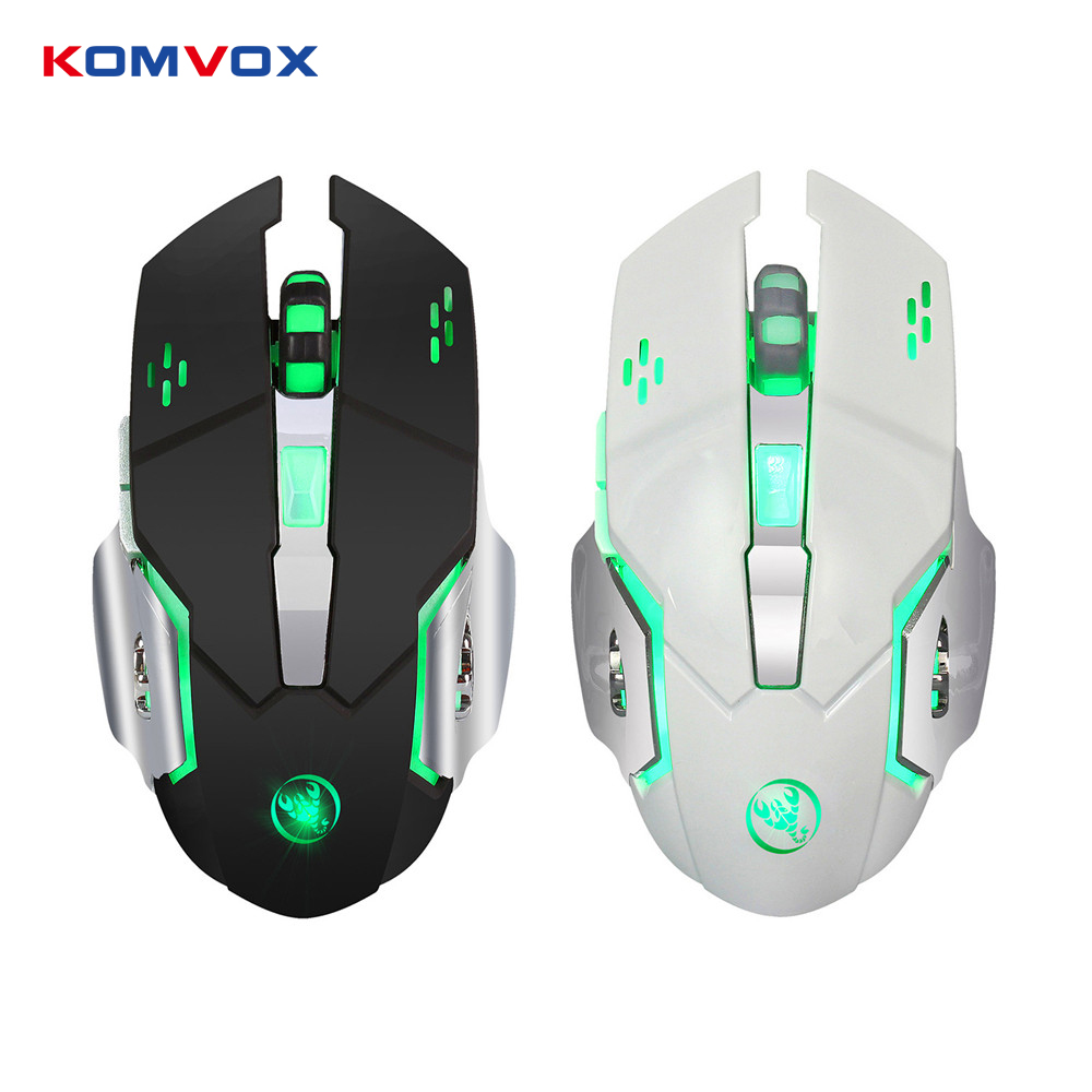 2.4G 2400DPI Wireless Gaming Mouse Ergonomics Optical Mouse with LED 7 keys Built-in Recharge Battery For PC Laptop Computer