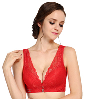 Plus Size Bras Sheer Wide Push Up Bra Lace Bralette Sexy Bh Sutian Soutient Gorge Women