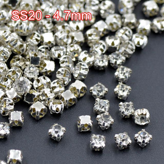 SS20 Szycia Jasnych Kryształów Pazur Rhinestone Applique Sew Na Szkło Kryształowe Kamienie Flatback Strass Dla Suknia Ślubna Rzemiosło