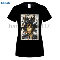 GILDAN New Arrival Gildan Crew Neck Short Sleeve Tall Jean Michel Basquiat Self Portrait T Shirt