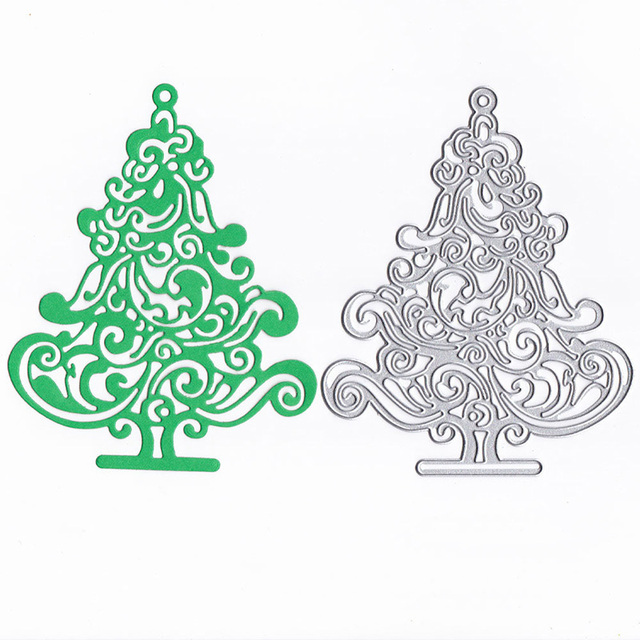 Christmas Tree Metal Cutting Dies And Stamps For Scrapbooking Diy