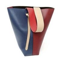 مصمم كبير جلد طبيعي ماركة crossbody حمل المتسوق حقيبة دلو أكياس الحلوى اللون حقائب الكتف لل نساء كوير الحويصلة