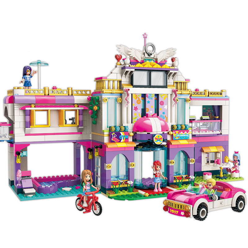 HEIßE NEUE Mädchen Stadt Freunde Prinzessin Traum Haus Villa Bunte Urlaub Bausteine Sets Kinder Spielzeug für mädchen-in Sperren aus Spielzeug und Hobbys bei  Gruppe 1