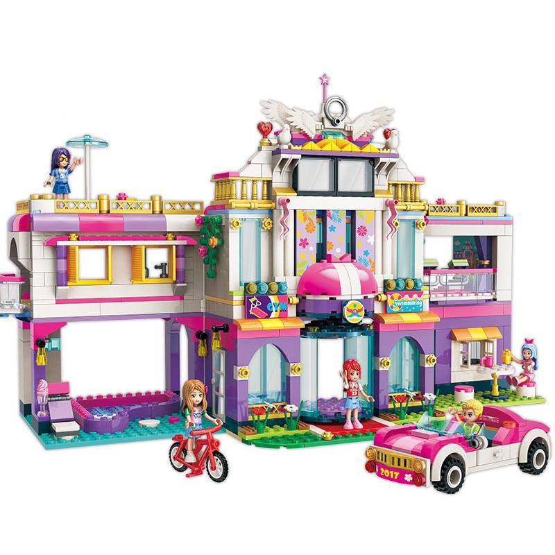 HOT NEW Ragazze City Amici Principessa Dream House Villa di Vacanza Colorato Building Blocks Imposta Giocattoli Per Bambini per le ragazze-in Blocchi da Giocattoli e hobby su  Gruppo 1