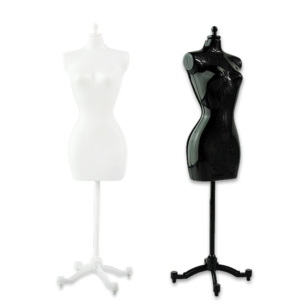 4pcs 2 black+2 white dress form clothing clothes gown display mannequin 8.8 inch