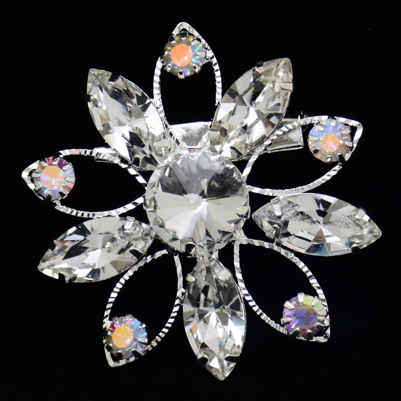 Cheap Rhinestone Brooches Bouquet Wedding Clothes Pin Hijab Safety Pins - Mei Te Jewelry store