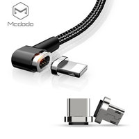 Mcdodo Magnetic Phone Charger Cable for Lightning/Type-C/Micro USB Port 3in1 Charging Cable with 3 Adapters for Android iPhone