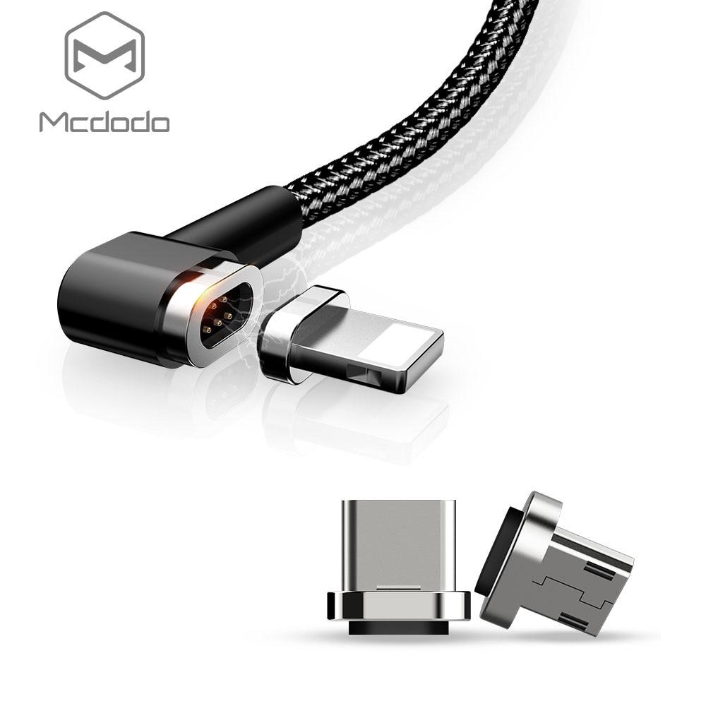 Mcdodo Magnetico Caricatore Del Telefono Cavo per L'illuminazione Tipo-C Porta Micro USB 3in1 Cavo di Ricarica con 3 Adattatori per Android iPhone