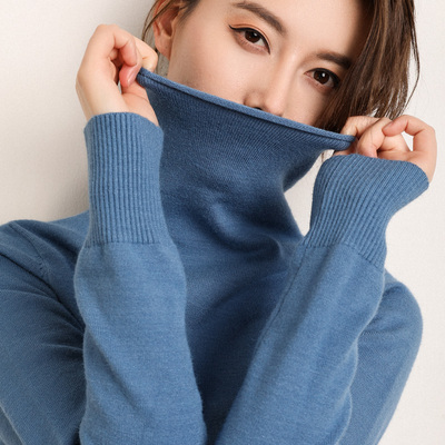 addonee 2018 Autumn Winter Women Turtleneck Pullover Sweater Soft Jumper Long Sleeve Warm Thick Slim Fit Tops