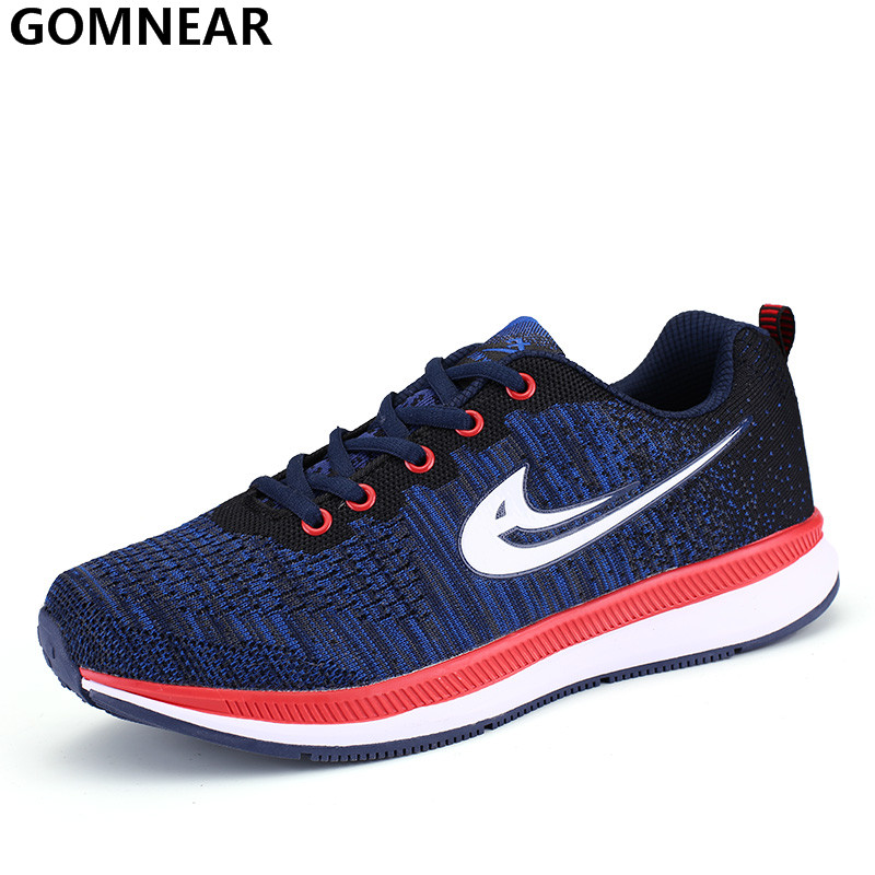 GOMNEAR Breathable Running Shoes for Men  Athletic Jogging Trainers Men