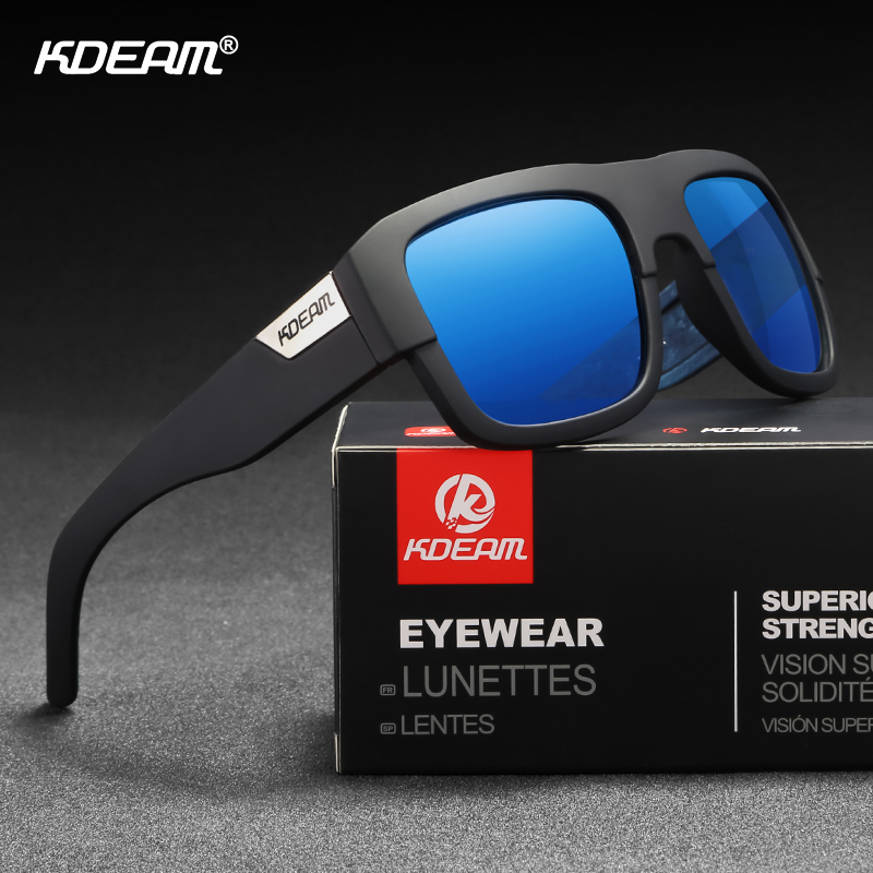KDEAM World-renowned Designer Polarized Sunglasses Men Durability Vintage Sun Glasses Driver Mujer Shades Metal Hinge CE