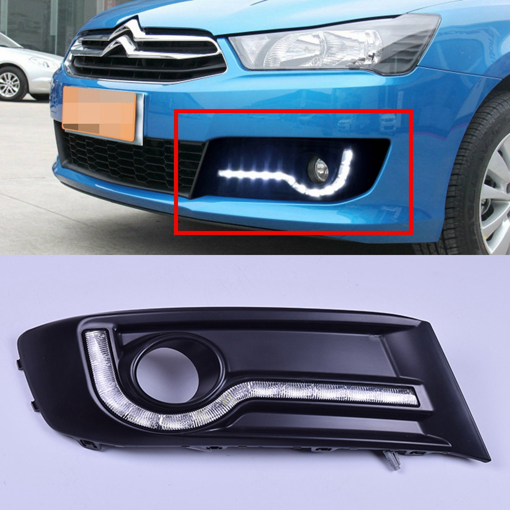 цена на Tuning LED lamps For Citroen New Sega Daily Lights New Sega Daytime Running Lights Highlighted Original Car free shippin
