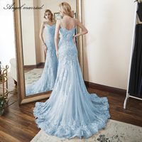 Angel married lace evening dress mermaid prom dresses womens pageant dress formal party dress vestido de festa