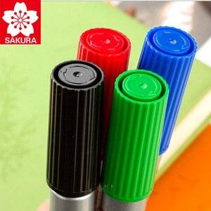 Image 4 - 8 Pcs Sakura Wasserdichte Zeichen Universal Permanent Öl Basis Marker Stift Kopf Farbe Lauffläche Haken Linie Durable Sicherheit Japan