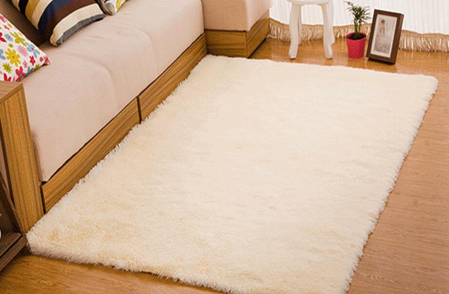 Living Room Carpet European Fluffy Mat Kids Room Rug Bedroom Mat Antiskid Soft Faux Fur Area Rug Rectangle Mats Gray Red Green 9