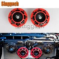 12V Car Red Electric Blast Tone Horn Kit For Renault Duster Laguna Megane 2 3 Logan Captur Clio For Saab 9 3 9 5 93 For MG 3 ZR